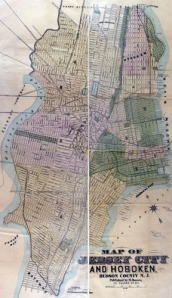 Jersey City map: Rutgers Library