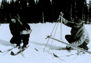 Undated image: measuring snow
