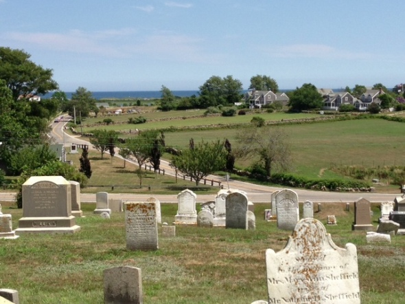 Cemetery atop the hill, Block Island.