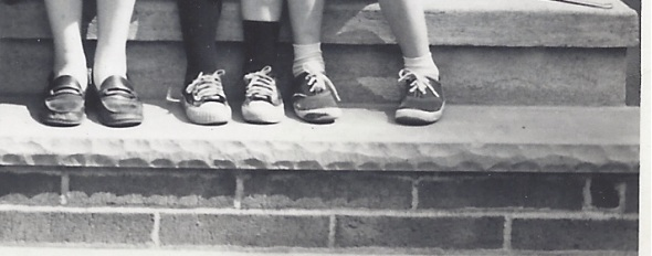 Feet on the front steps, circa 1970.